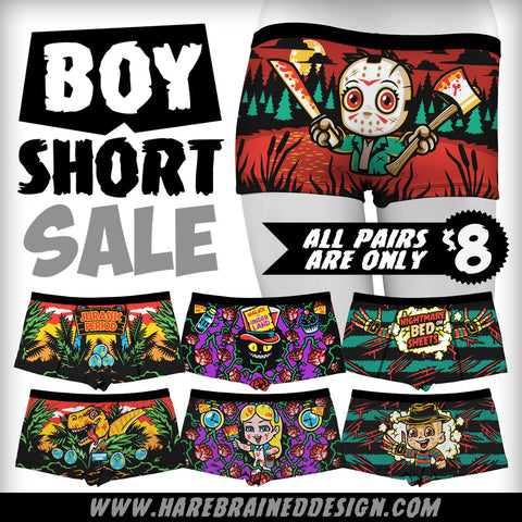 Period Panties Boyshorts Sale