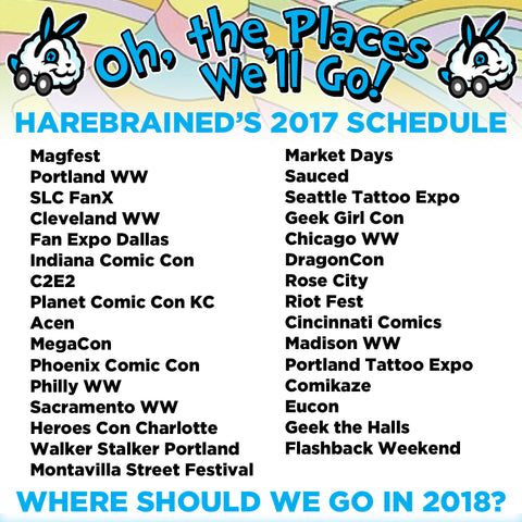 Harebrained events 2017