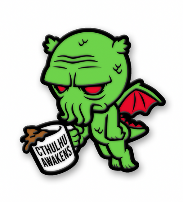 Cthulhu Awakens Pin