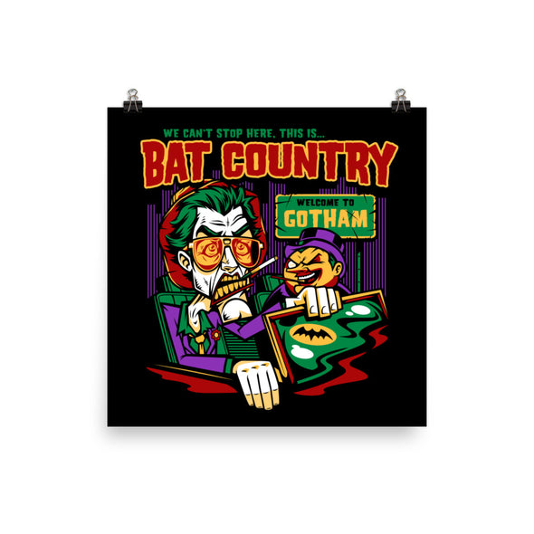 Penguin's Bat Country Poster