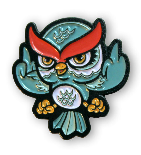 Owl See You in Hell Enamel Pin