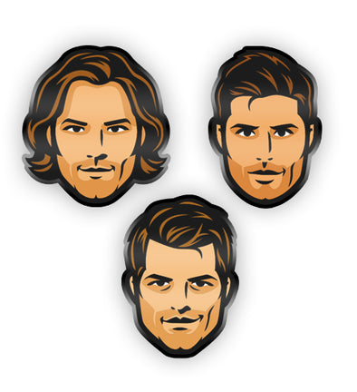Supernatural Trio Enamel Pin Set