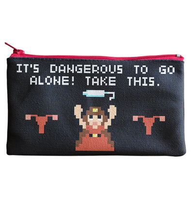 It's Dangerous To Go Alone Tampon Case