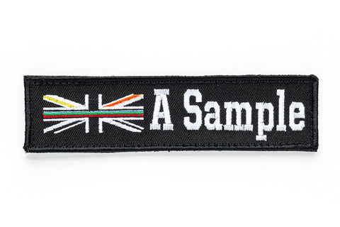 Personalised Emergency Services Velcro Name Badge