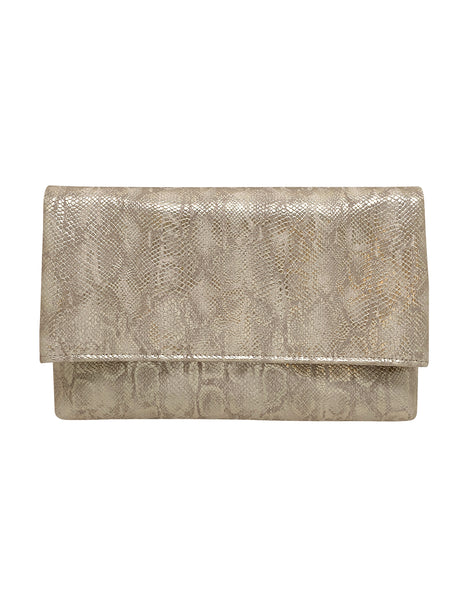 Eliana Faux Leather Foldover Clutch