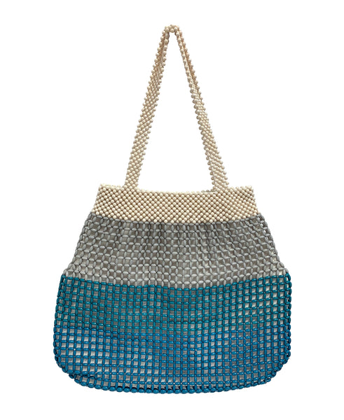 Summer Macrame' Beaded Stripe Tote