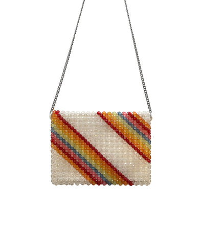 Dashiell Rainbow Fully Macrame Bead Crossbody