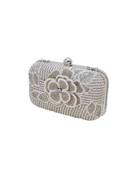 Maria Floral Beaded Minaudiere