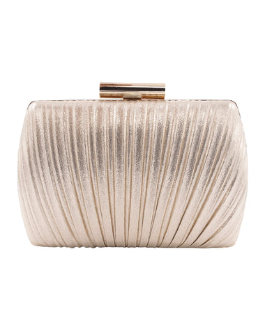 Ariana Peacock Pleat Minaudiere