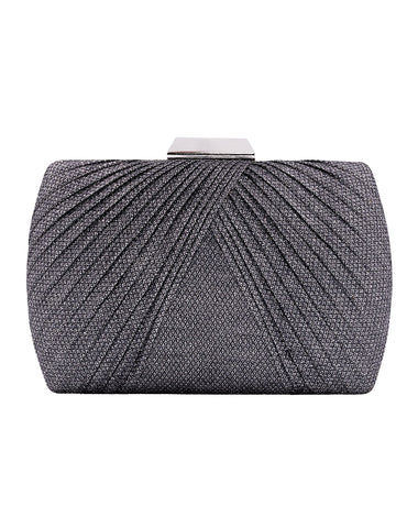 Ivy Pleat Minaudiere - Pewter