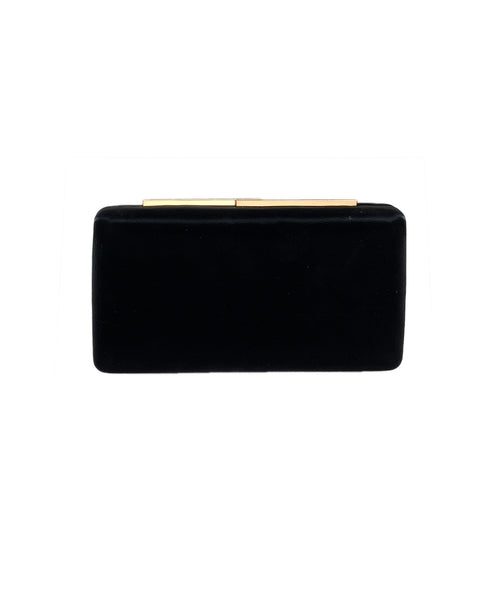 Collete Silky Faux Leather Minaudiere