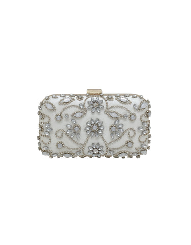 Bella Elegant Mixed Bead Minaudiere