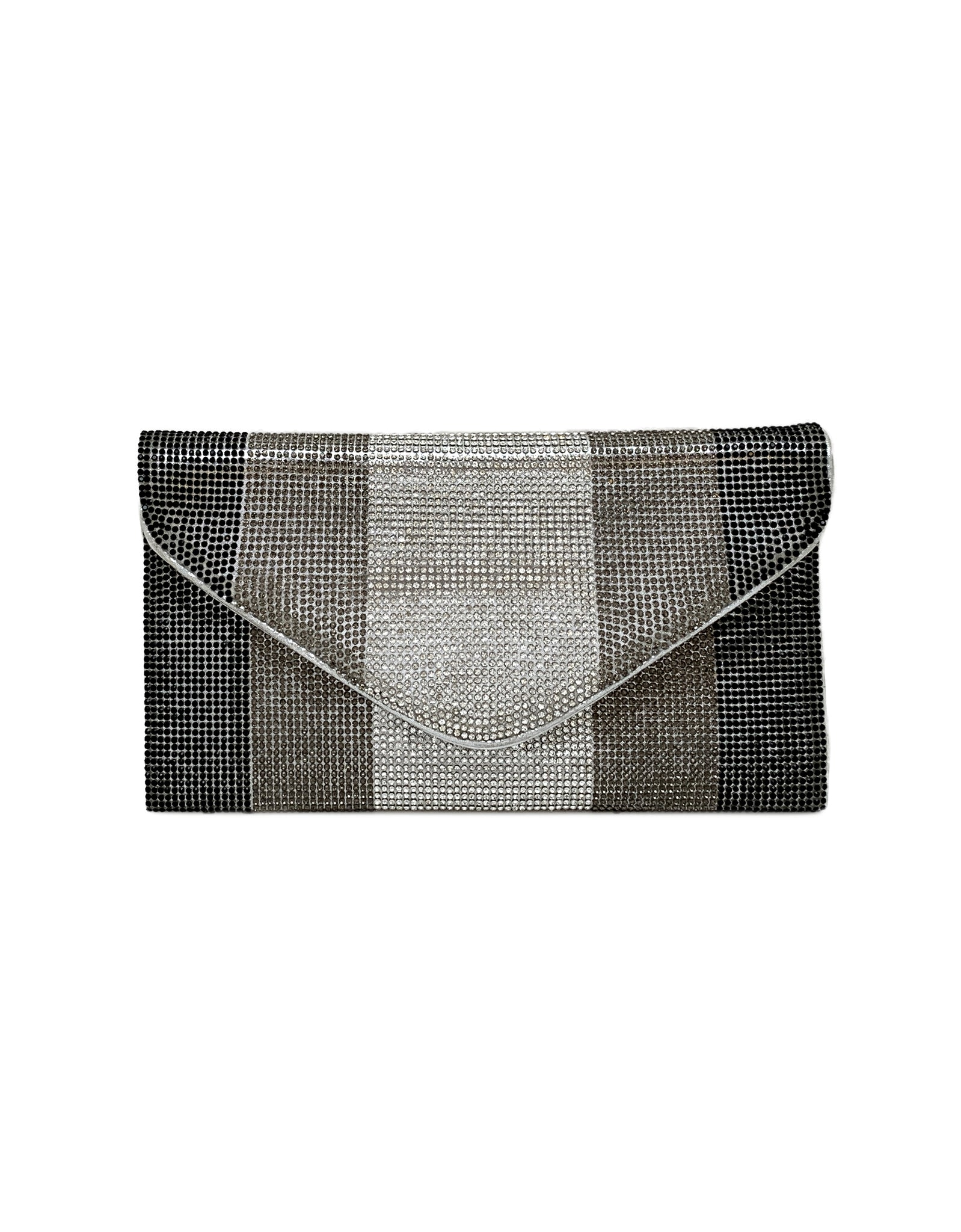 Kennedy Crystal Stripe Envelope Clutch