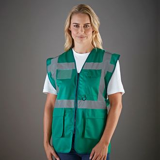 YK002 Multi-functional executive safety paramedic hi-vis waistcoat (HVW801)