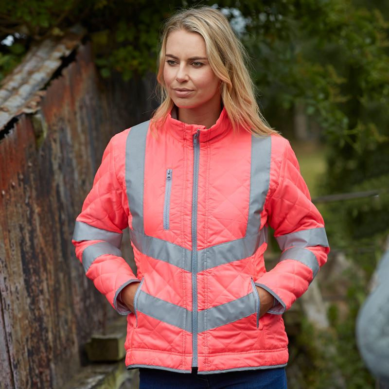 YK010 Hi-vis Kensington fleece lined jacket (HVW706)