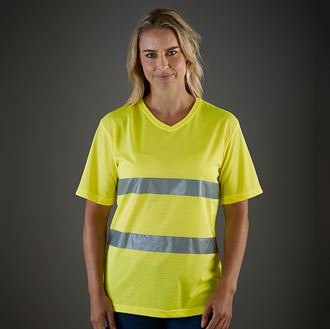YK018 Hi-vis top cool super light v-neck t-shirt (HVJ910)