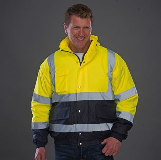 YK044 Hi-vis two-tone bomber workwear jacket (HVP218)