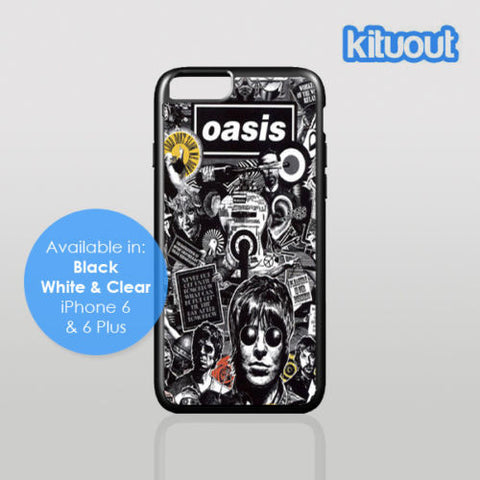 Oasis Liam Gallagher Noel Band Tour iPhone 5, 6/6 Plus Black White Case Cover New