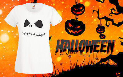 Halloween Cheap T Shirt Skeleton shirt Top Tee Horror Costume Scary Girls Outfit