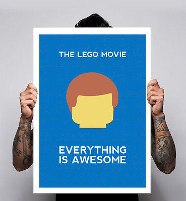 Lego Movie Everything Is Awesome Retro Image Kids Poster Print 180gm A1-3 New