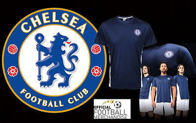 Chelsea FC Men Unisex Polyester Training Performance T Shirt Football Top New