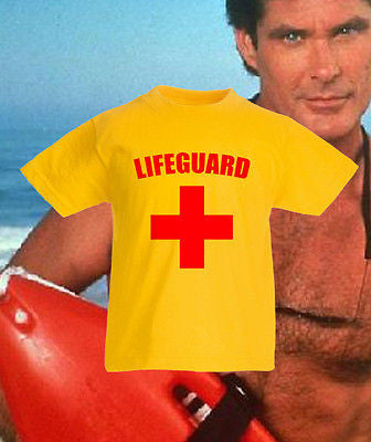Life Guard Retro Funny Bay Watch Kids T Shirt FOTL Boys Girls Tee New All Sizes