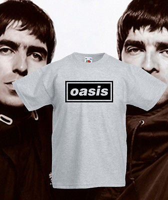 Oasis Rock Band Kids T Shirt Indie Classic Brit Pop FOTL Boys Tee Liam Noel New