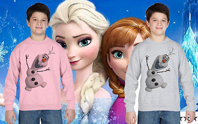 Frozen elsa anna olaf Disney Jumper Sweatshirt Kid Princess Girls Ages 1 -13 New
