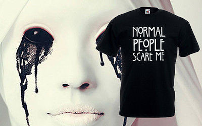Normal People Scare Me American Horror Story Top Fashion Funny T-Shirt Tee Mens
