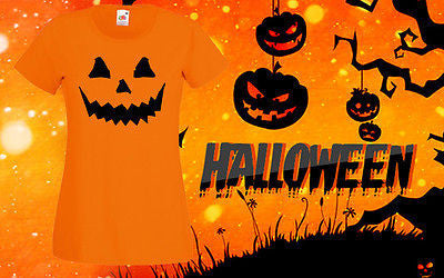 Halloween Cheap T Shirt Pumpkin shirt Top Tee Horror Costume Scary Girls Outfit