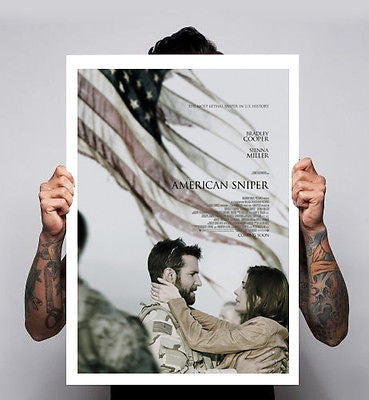 American Sniper Bradley Cooper Movie Minimal Cinema Film Poster A1 A2 A3