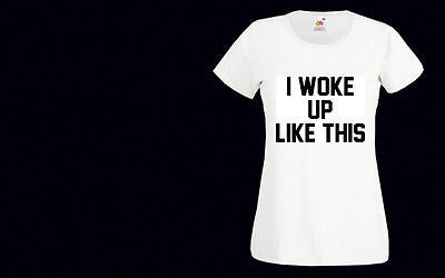 I Woke Up Like This 2 Womens T-Shirt beyonce Tee Flawless Dis Tumblr Swag