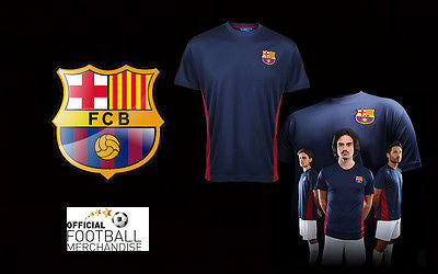 Barcelona FC Men Unisex Polyester Training Performance T Shirt Football Top New