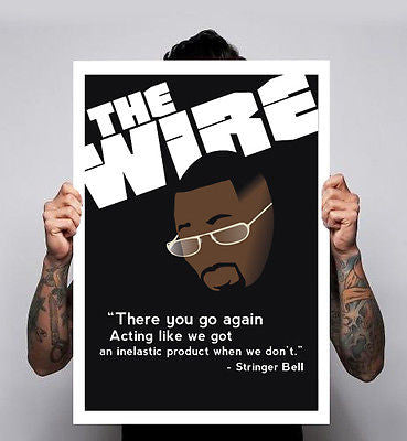 The Wire Idris Elba Stringer Bell Tv Show HBO Omar Avon Poster Print 180gm A1