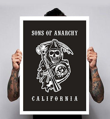 Sons of Anarchy 2 T Shirt motorcycle club Tv Show Poster Print Image 180gm A1-3