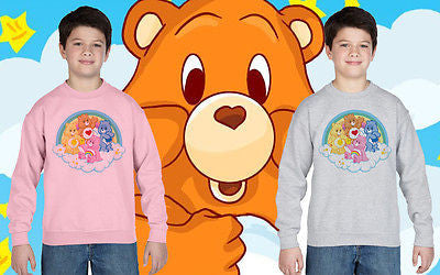 Care Bears Tv Movie 80's Film Kids Jumper Sweatshirt Boys Girls Tee New All Size
