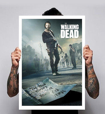 The Walking Dead Poster Image 3  Zombies Tv Show Comic Rick Daryl 180gm A1-3 New