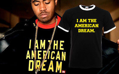 Nas I Am the American Dream Omar The Wire T-shirt tee T Print ...