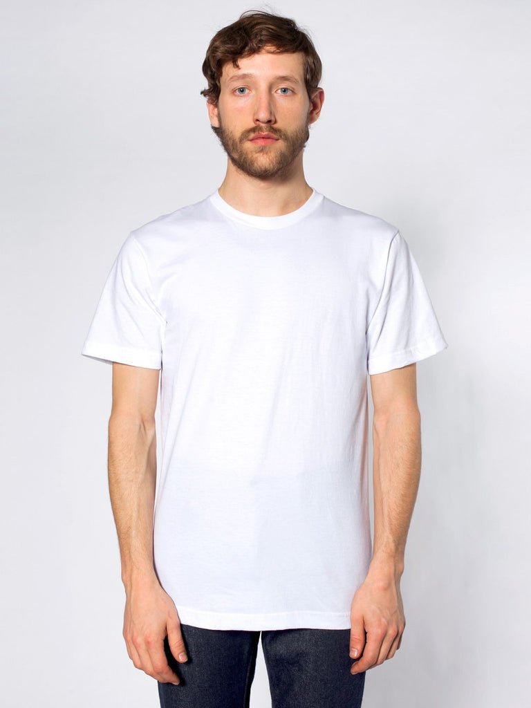 American Apparel Men's T-Shirt 12 Colours AA001 Unisex Fine Jersey Sizes S - XXL