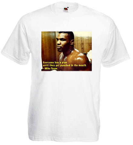 Iron Mike Tyson Boxing Sport T Shirt USA Brooklyn New York FOTL Ringer Tee New