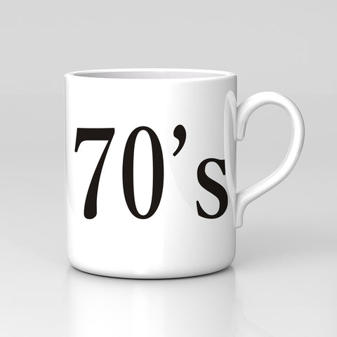 70s 80s 90s Decade Age Present Year Birth Born Retro Mug Great Birthday Xmas Gift New