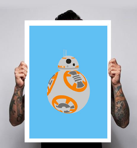 BB-8 Force Awakens Droid Fan Art Unofficial Poster Print 180gm A1-3