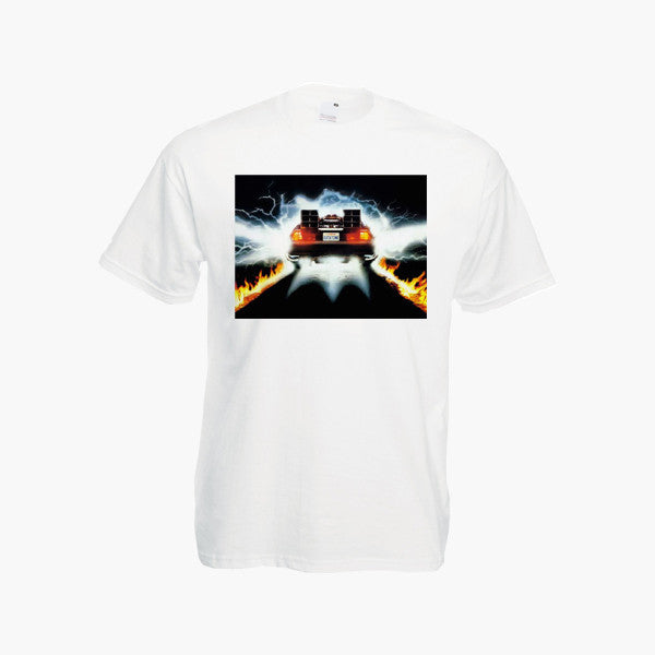 Back To The Future Car Delorean T-Shirt M J Fox Movie Tv Show T Mens Tee New Sizes S XXL New