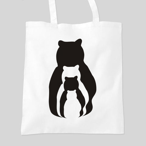 Bear Family Animal Zoo Personalised Tote Bag Mother's Day Birthday Gift