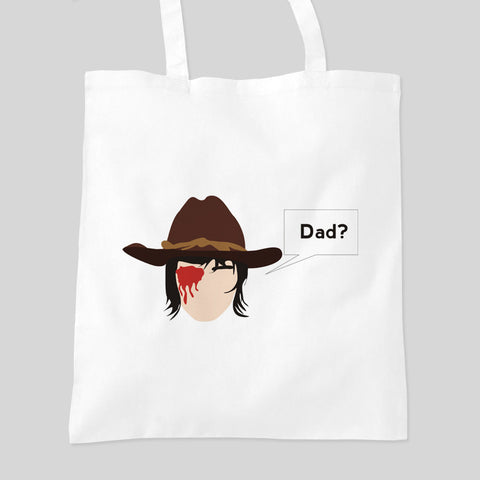The Walking Dead Carl's Eye Comic Book Fan Art Tote Bag