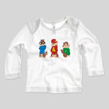 Alvin And The Chipmunks Fan Art Unofficial Kids Long Sleeve Baby Rib T-Shirt 3-24mths