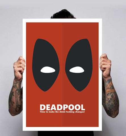 Deadpool Chimichangas Fan Art Unofficial Movie Poster Print 180gm A1-3 New