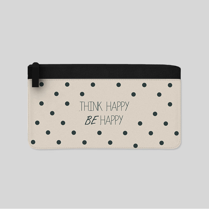 think happy be happy quote tumblr carry all pouch new kituout store