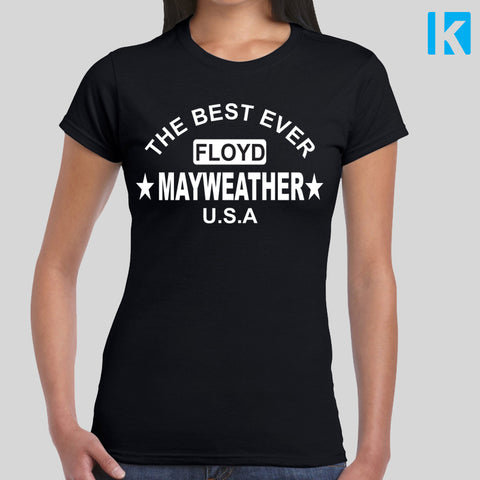 Floyd Mayweather Fan T-Shirt Fight Gym McGregor Unofficial Womens Girls Top