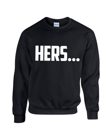 Hers & His Matching Jumpers Couples Mr & Mrs Sweatshirts Valentines King Queen Sizes S-2XL